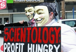scientology anonymous profit hungry
